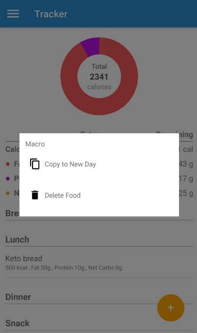 delete food